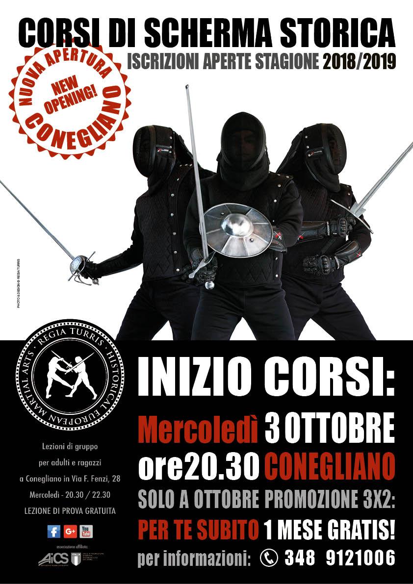 Scherma Storica Conegliano - Inaugurazione corsi Mercoledì 3 Ottobre 2018