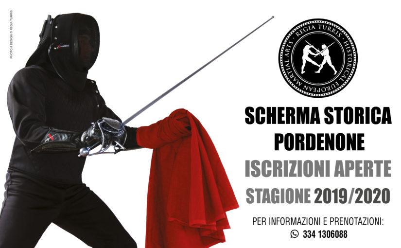 Inizio corsi di Scherma Storica a Pordenone 2019/2020!