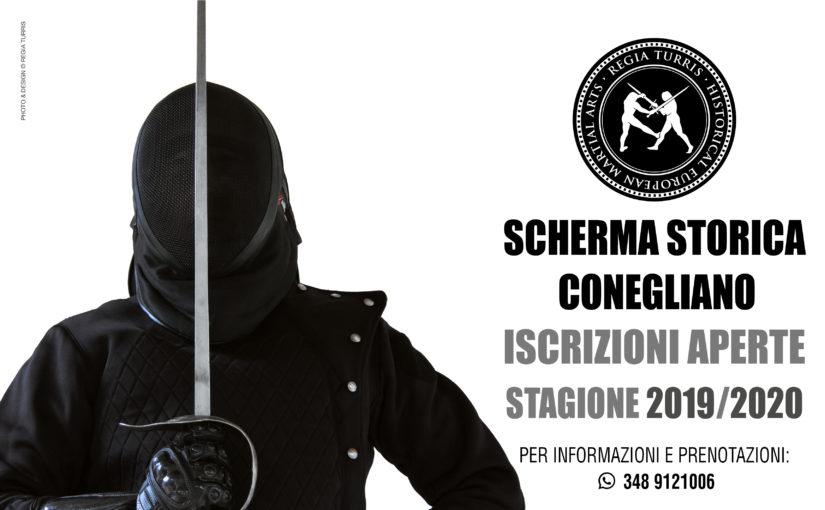 Inizio corsi di Scherma Storica a Conegliano 2019/2020